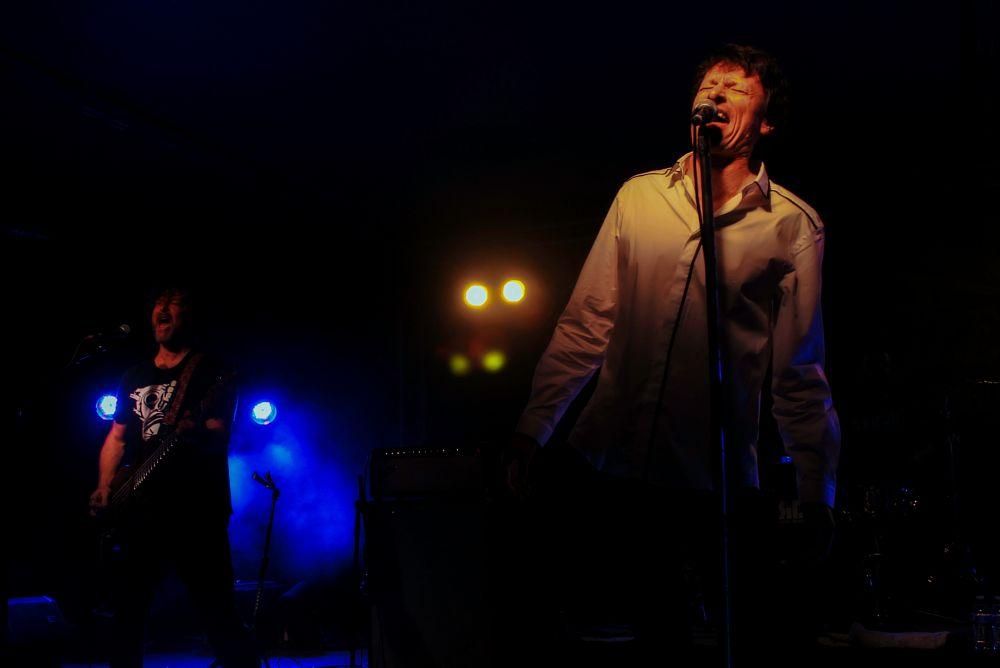 Photo in Concert #steve taylor #john mark painter #rock #sing #lighting