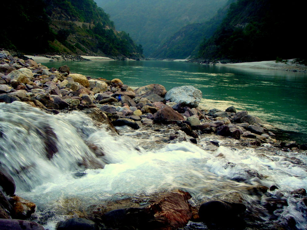 Photo in Random #falls #river #rocks #water #mountain