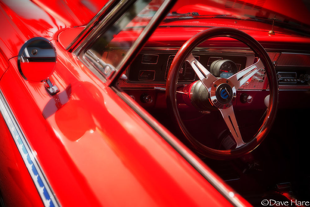 Photo in Vehicle #car #red #auto #automobile #vehicle #america #american #wheel #steering wheel #dave hare