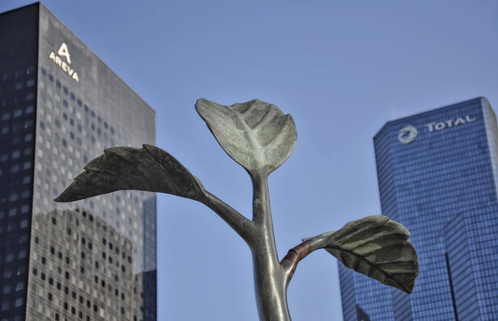 Photo in Abstract #dream #nature #buildings #la défense #paris #statue #nikon #d7000