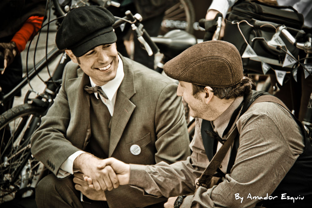 Photo in Street Photography #old #friends #ypa2013 #vintage #tweet ride madrid #bikes #bike #cap #hands #amadoresquiu #amador esquiu #madrid