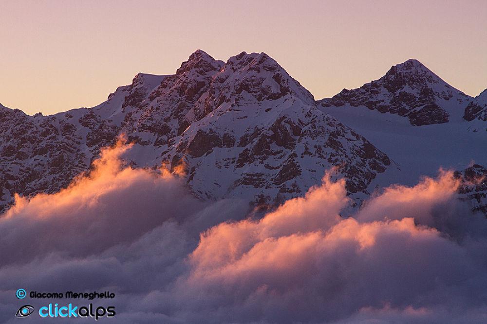 Photo in Landscape #alps #mountains #montagne #landscape #paesaggio #tramonto #sunset