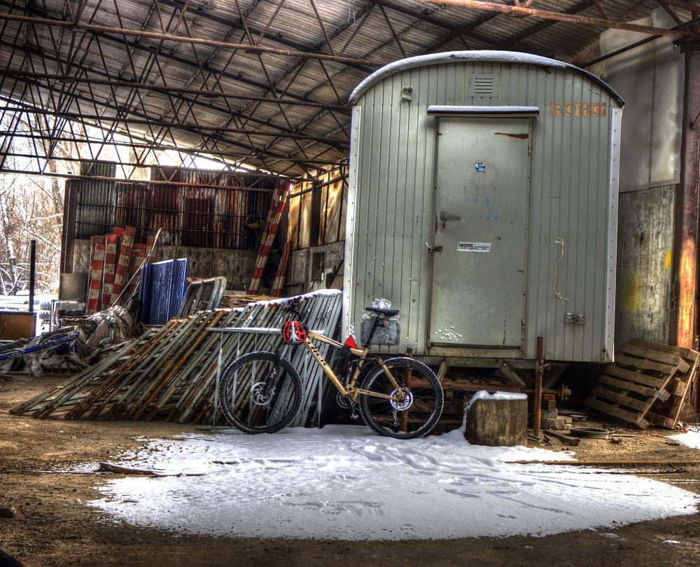 Photo in HDRI #hdr #bike #trek #abandoned #factory
