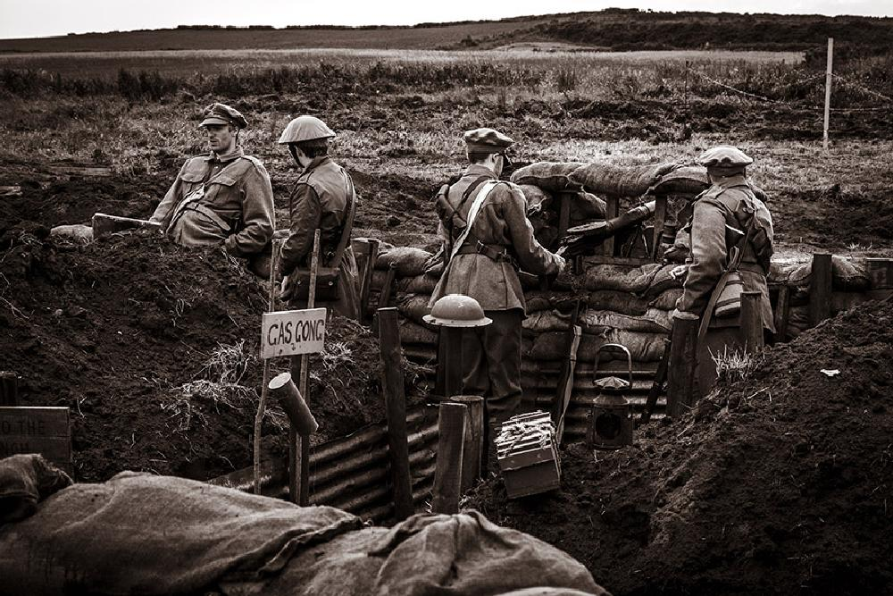 Photo in Vintage #war #battle #acting #trench #ww1