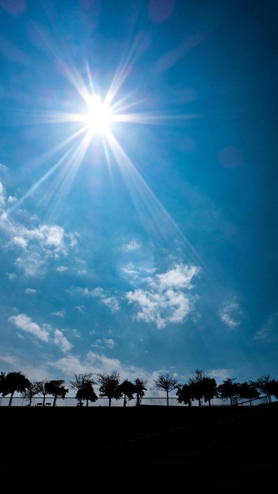 Photo in Landscape #back light #backlit #cloud #sun