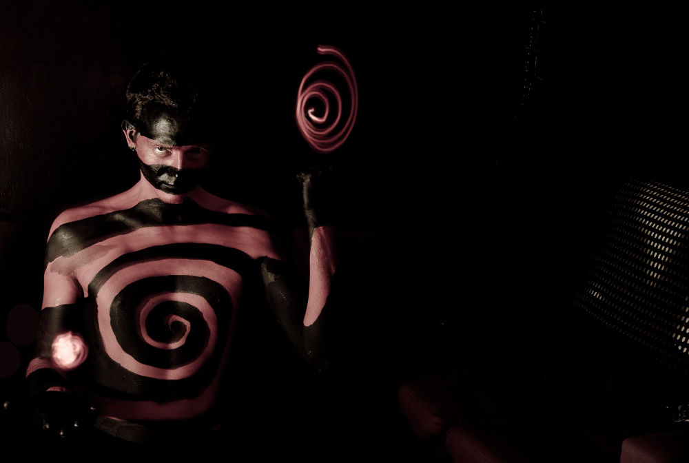 Photo in Fine Art #spiral #light painting #body painting