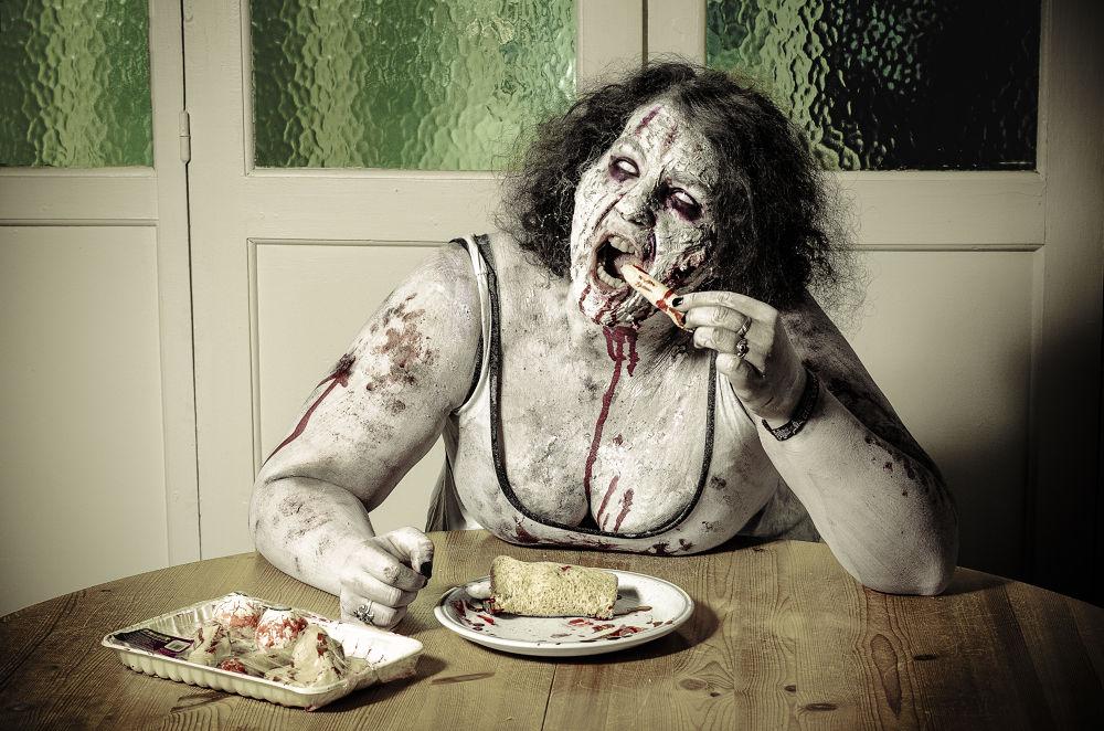 Photo in Fine Art #blood #eat #meal #finger #zombie