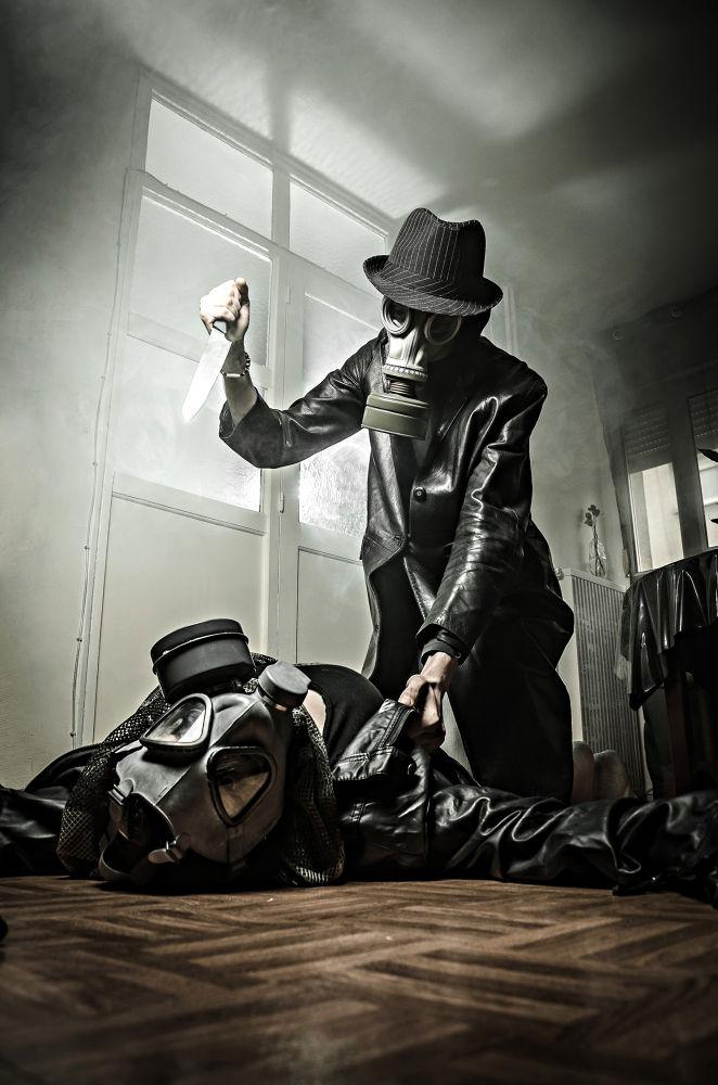 Photo in Fine Art #gas mask #horror #knife