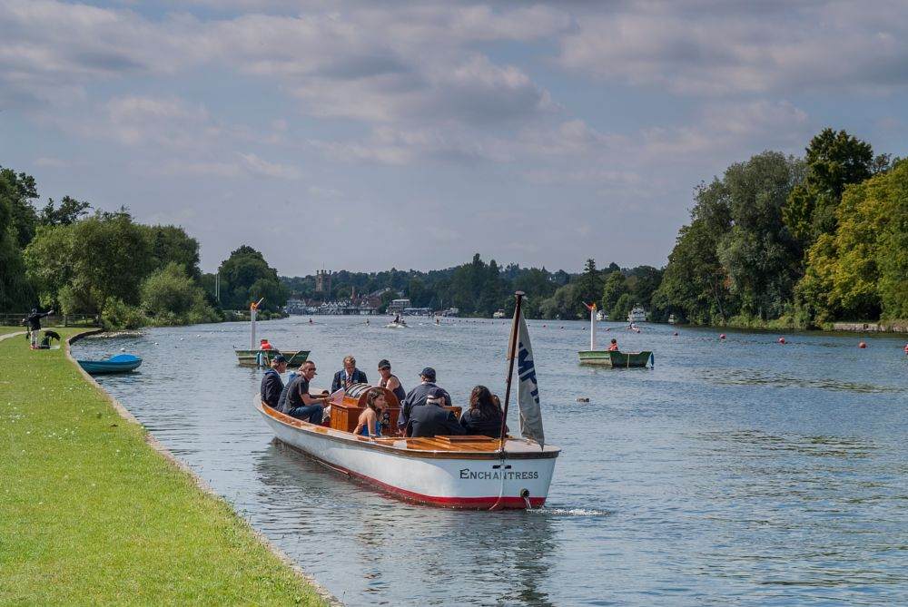 Photo in Landscape #umpire #henley regatta #rowing #river thames #landscape