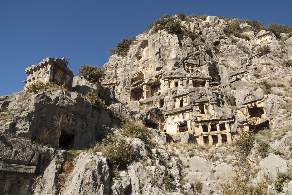 Photo in Travel #historic #byzantine #myra #rock #tombs #travel #landscape #scenic