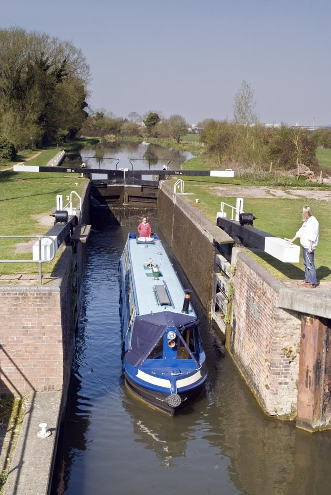 Photo in Landscape #lock #migham #berkshire #kennet & avon #canal #barge #narrow boat #travel #landscape #scenic