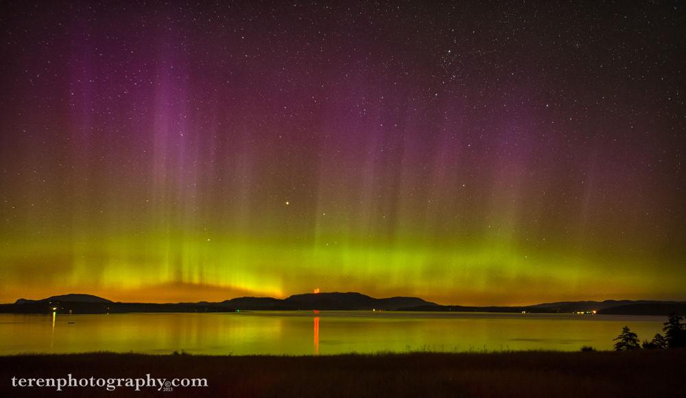 Photo in Random #northern lights #aurora #aurora borealis #san juan islands #washington