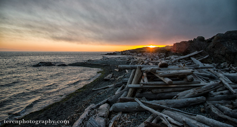 Photo in Sea and Sand #sunset #south beach #san juan island #american camp #national historical park #friday the 13th