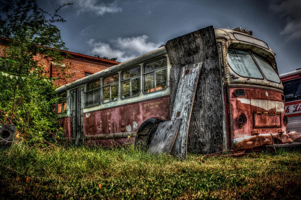 Photo in Urban #bus #transportation #old #rusty #urbex #urban #decay #atmospheric