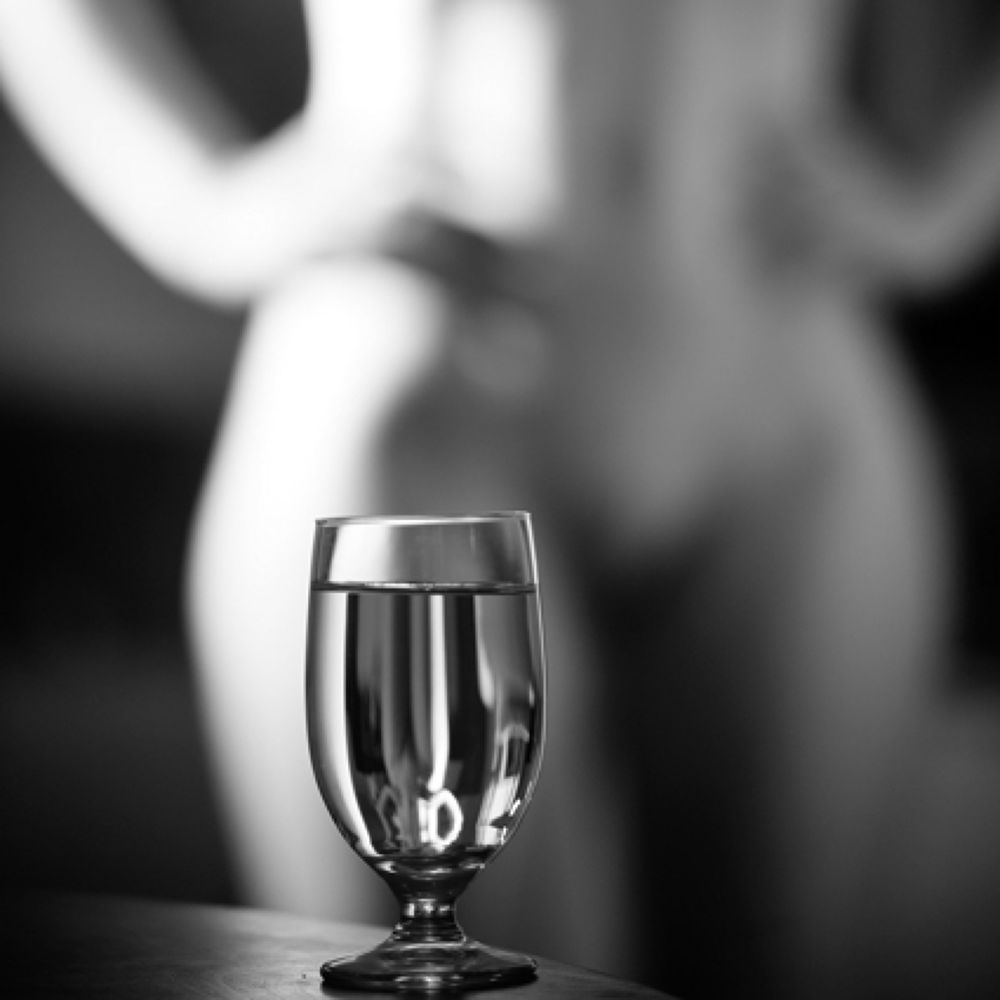 Photo in Nude #glass #reflection #bokeh #square #muse #nude #horny #thirsty #drink #monochrome #grey #bw #woman