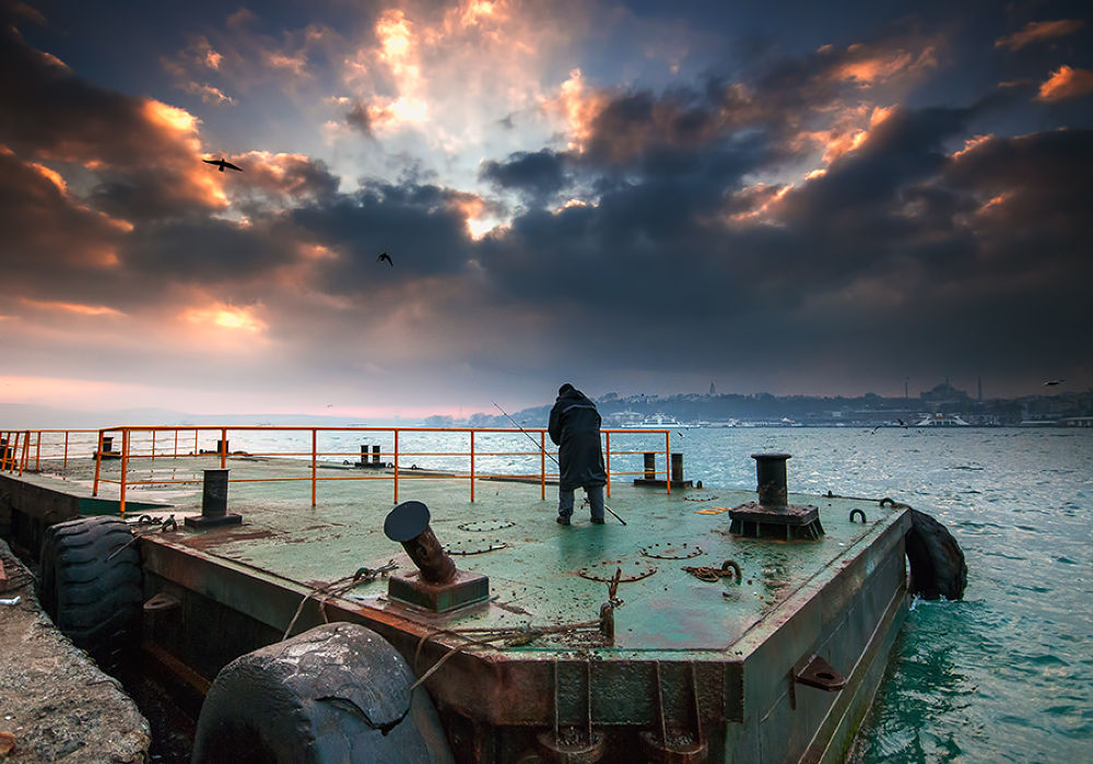 Photo in Cityscape #ypa2013 #istanbul #morning #fisher #karakoy #bosphorus