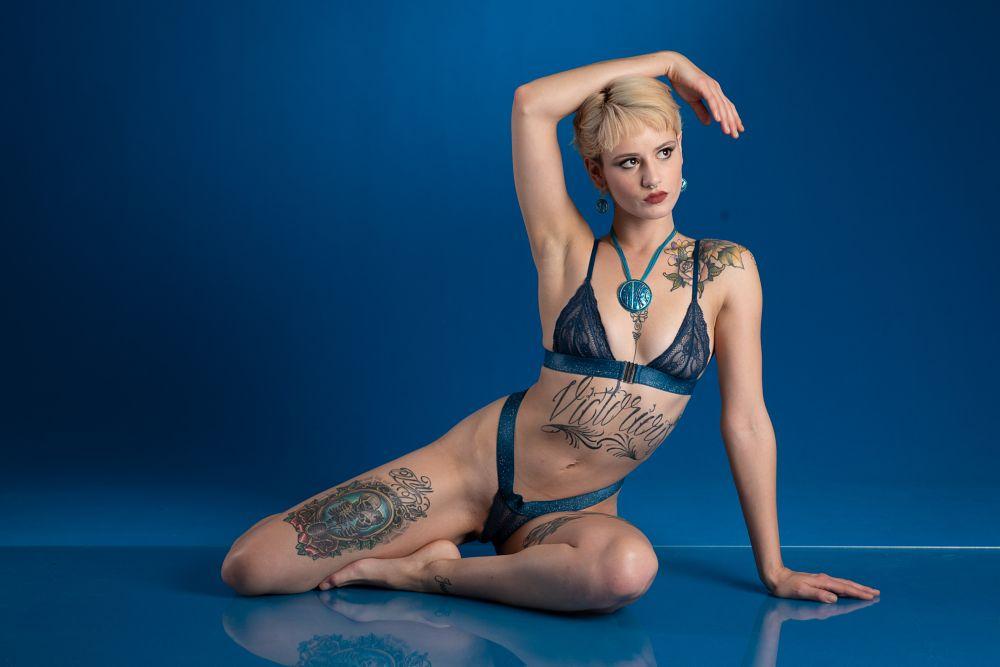 Photo in Portrait #girl #blue #lingerie #model #beauty #sexy
