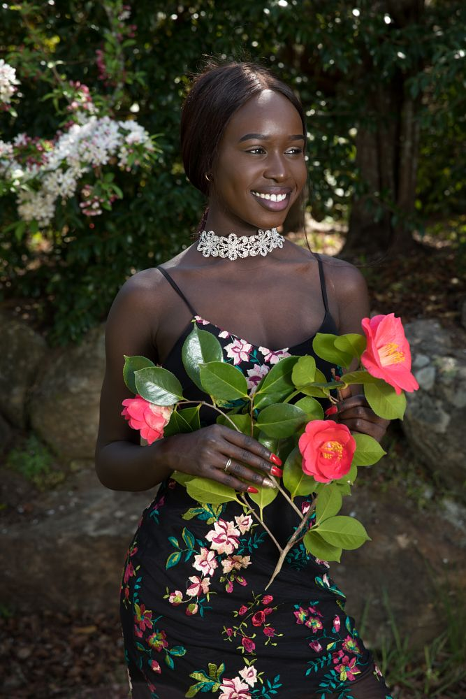 Photo in Portrait #girl #garden #dark skin