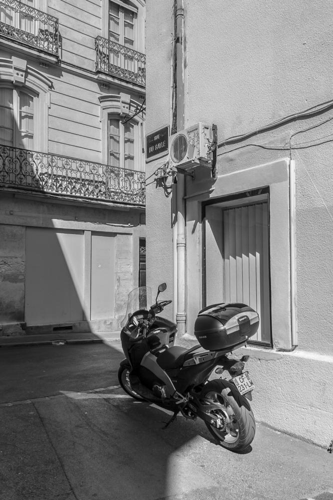 Photo in Black and White #bike #light #shade #bright #b&w #france #montpellier #herault #languedoc-roussillon