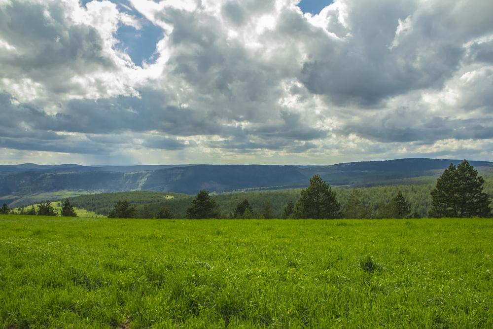 Photo in Landscape #ispagnac #lozere #france #meniers #languedoc-roussillon #panorama #sky #green #dramatic #clouds