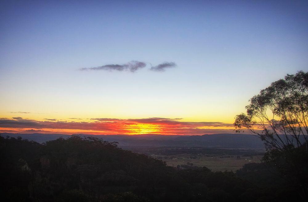 Photo in Landscape #bushwalk #mt victoria #hartley vale #blue mountains #sunset