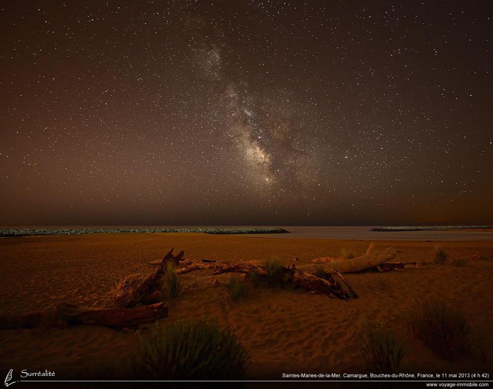 Photo in Landscape #voie lactée #plage #saintes-maries-de-la-mer #milky way #étoiles #nocturne #stars #night photography
