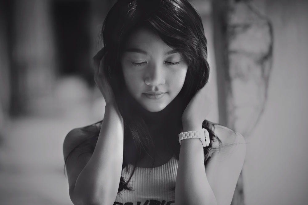 Photo in Black and White #girl #bw