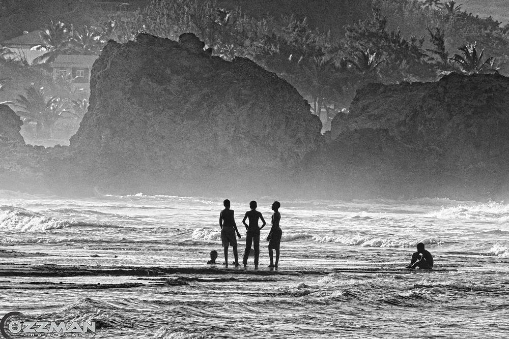 Photo in Sea and Sand #sea #water #beach #black&white