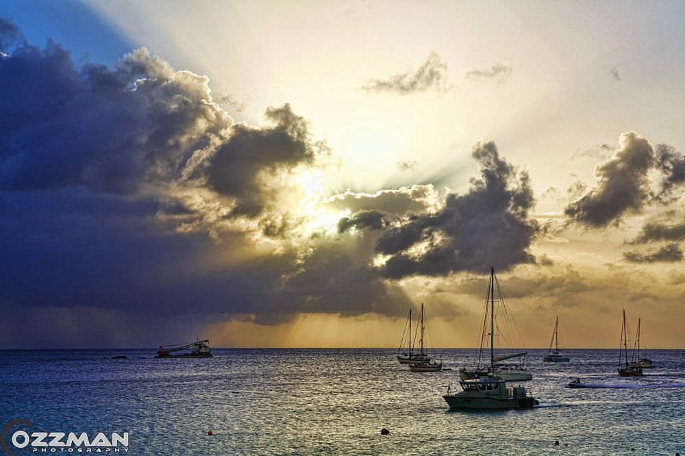 Photo in Sea and Sand #berach #boats #sunset