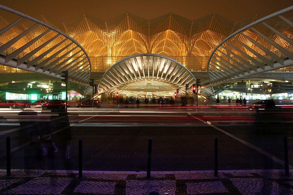 Photo in Architecture #estação #metro #oriente #lisboa #comboios #noturno #expo 98 #longa exposição #urbano #cidade #canon #sigma