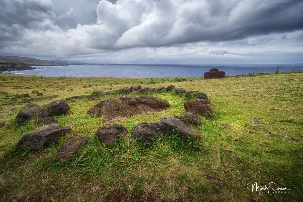 Photo in Travel #rapa nui #easter island #ancient civilisation #stone circle #ceremony