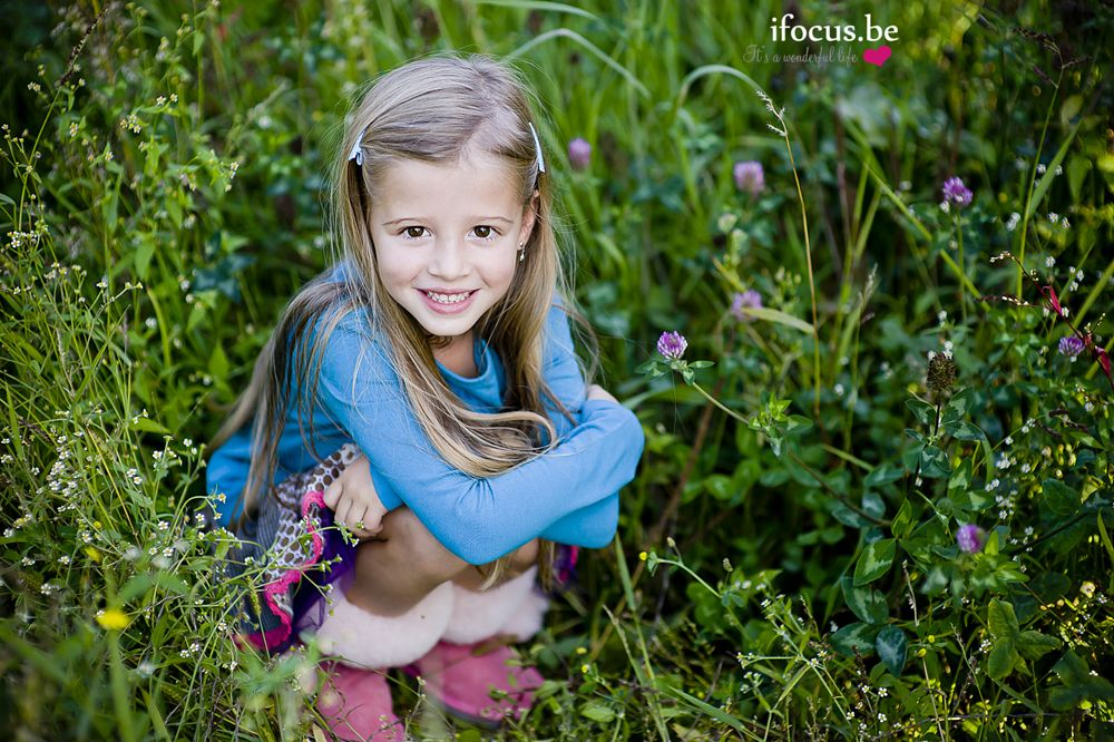 Photo in Family #girl #fashion #colors #outdoors #flowers #field #long hair #blonde #cute #sweet #family