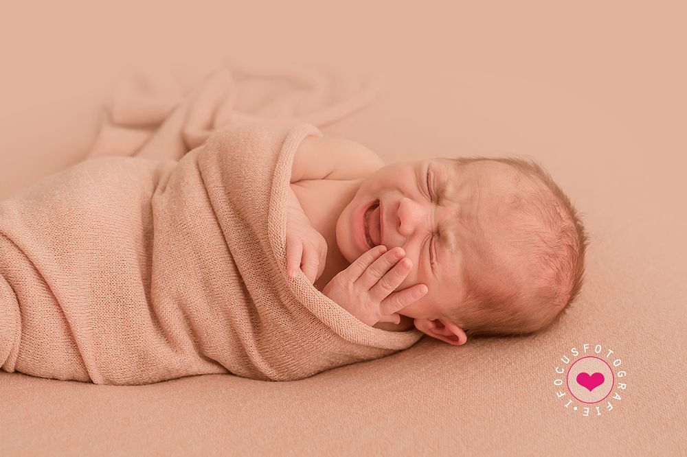 Photo in Family #newborn #emotions #emotion #baby #girl #color #portrait #studio #real