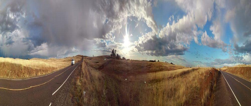 Photo in Landscape #landscape #pano #nature #highway #california #folsom #golden #cloudscpe