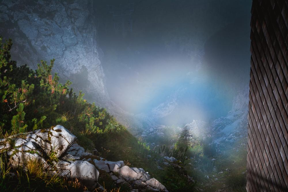 Photo in Nature #rainbow #alps #nature #germany #alpen #rauschberg #rauschbergbahn #bavaria #mountain