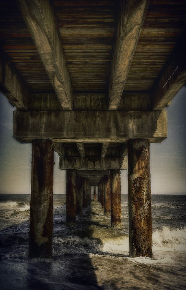 Photo in Sea and Sand #pier #beach #waves #florida