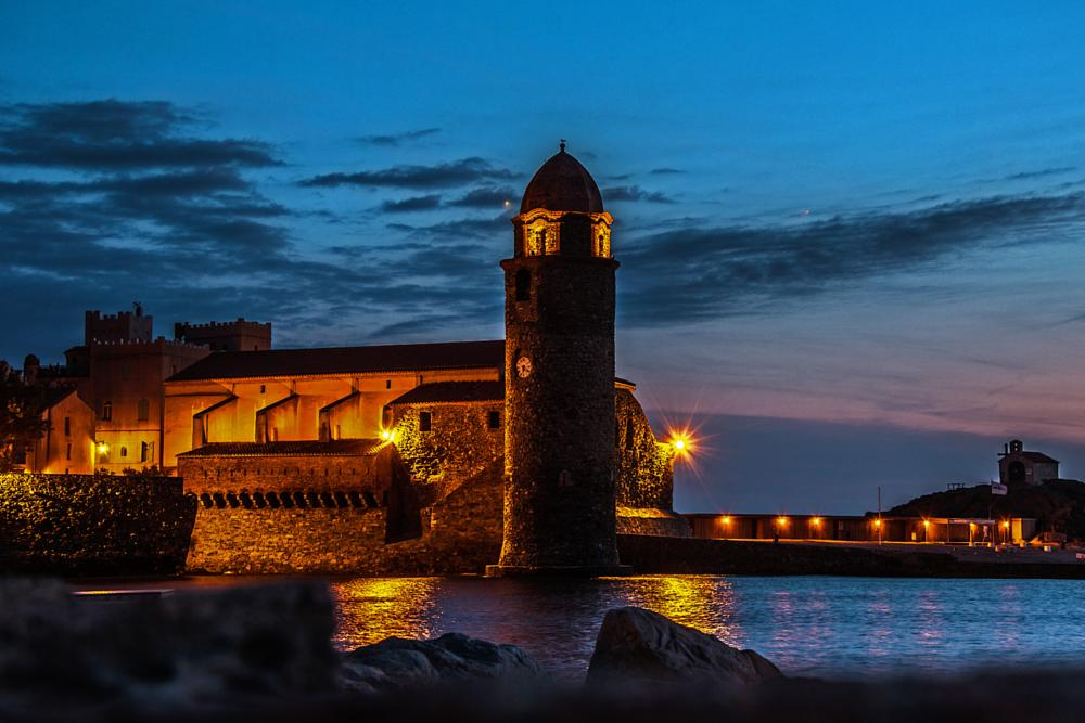 Photo in Landscape #dawn #collioure #france #tower #church #harbour