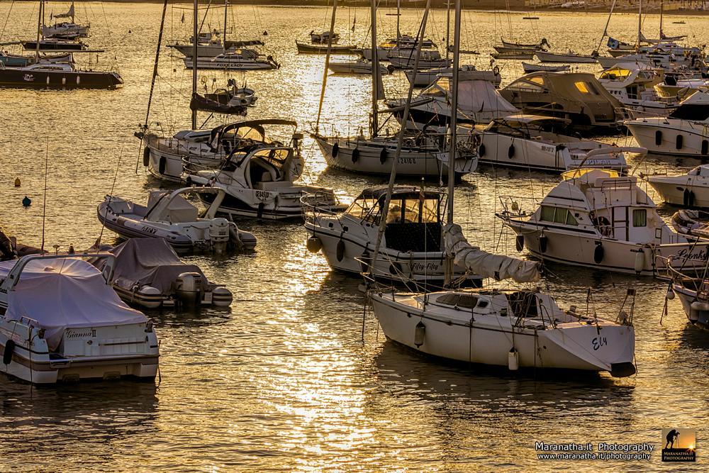 Photo in Landscape #boats #sunrise #sestri levante #liguria