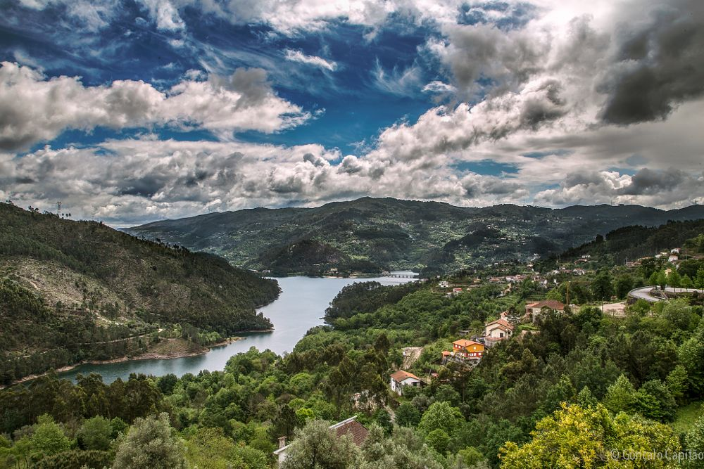 Photo in Landscape #portugal #gerês #parque nacional #paisagem #nuvens
