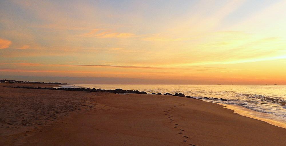 Photo in HDRI #sunrise #beach #jersey shore