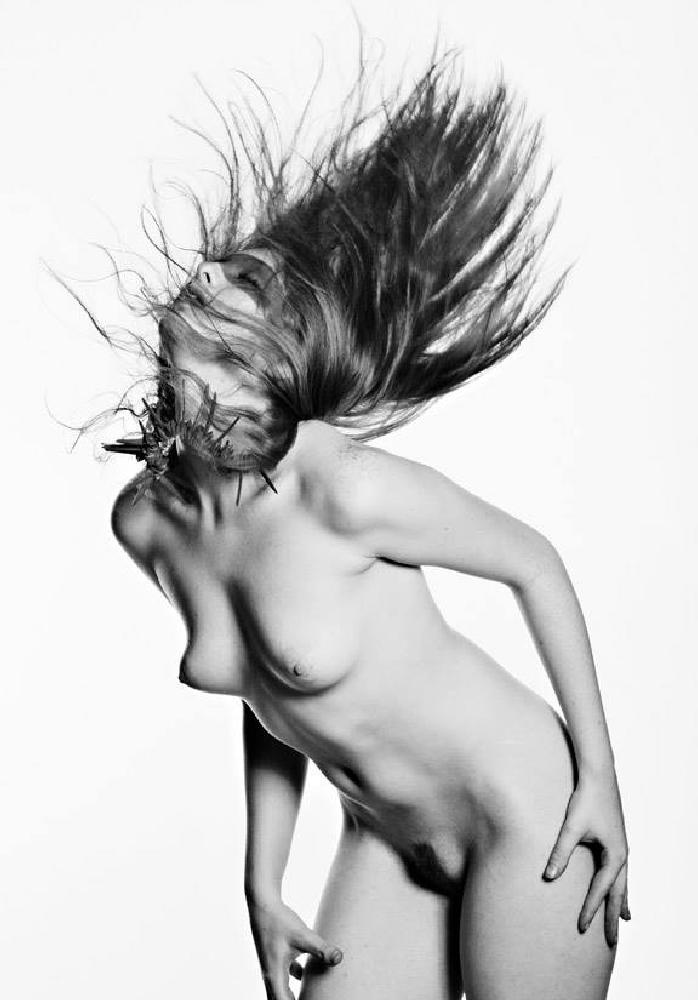 Photo in Nude #nude #hair #black and white
