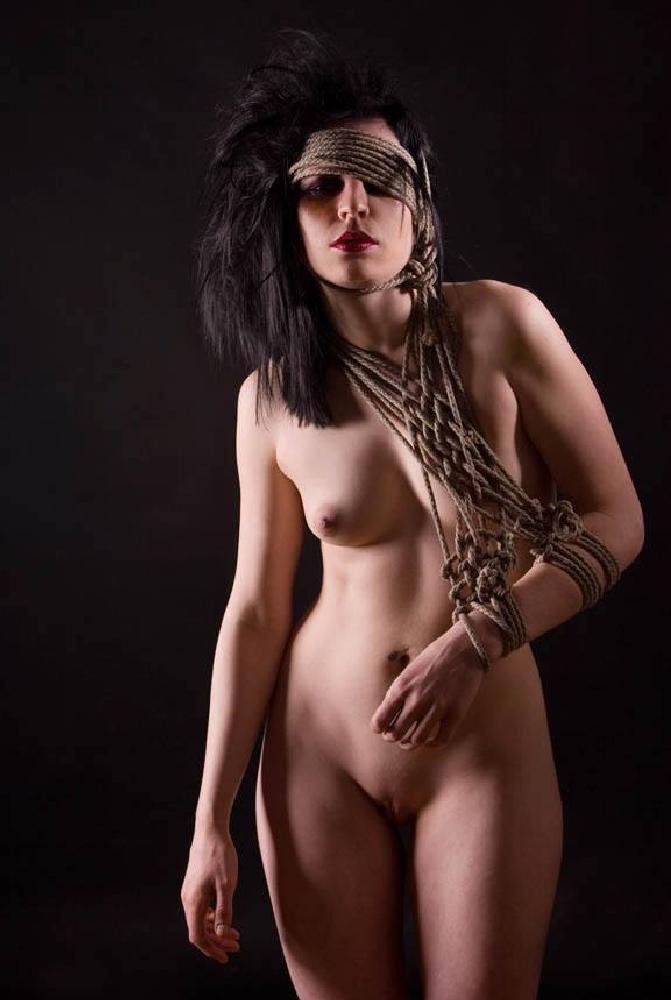 Photo in Nude #shibari #rope #bondage #nude #goth #fetish #sling