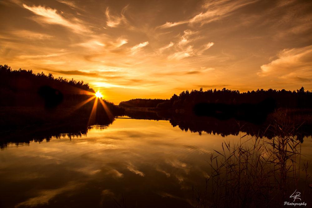 Photo in Landscape #sunset #finland #sea #water #landscape #seascape #island #forest #sky #cloud #clouds
