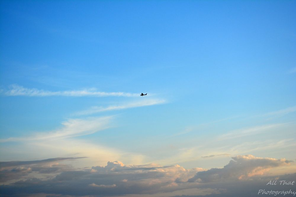 Photo in Nature #sky #plane #clouds