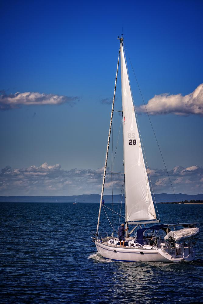 Photo in Sea and Sand #sea #sailing #boat #water #sky