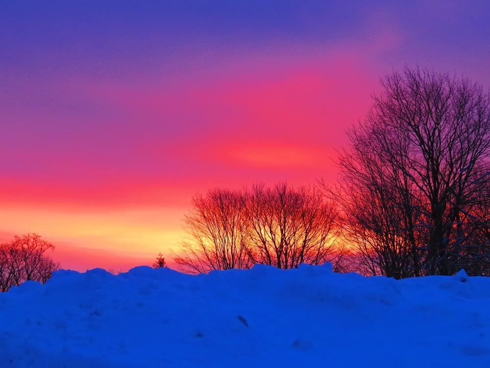 Photo in Landscape #sunrise #snow #morning #landscape