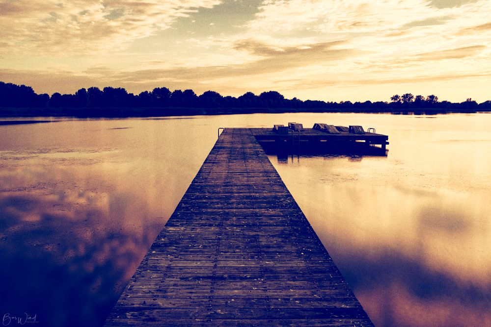 Photo in Landscape #long exposure #clouds #pier #water #wood #horizon #movement reflections