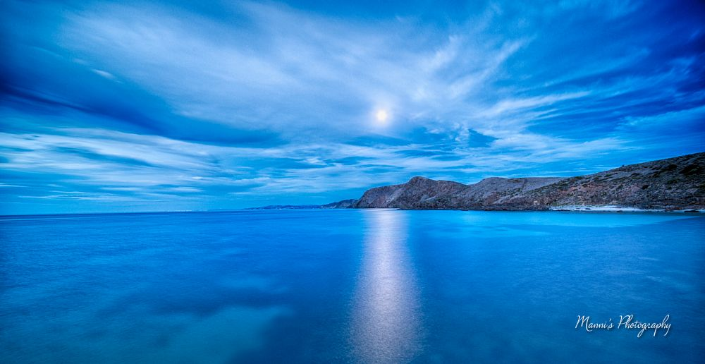 Photo in Landscape #moonlight #second valley #ocean #sea #water #coastline #night #long exposure #sky #clouds