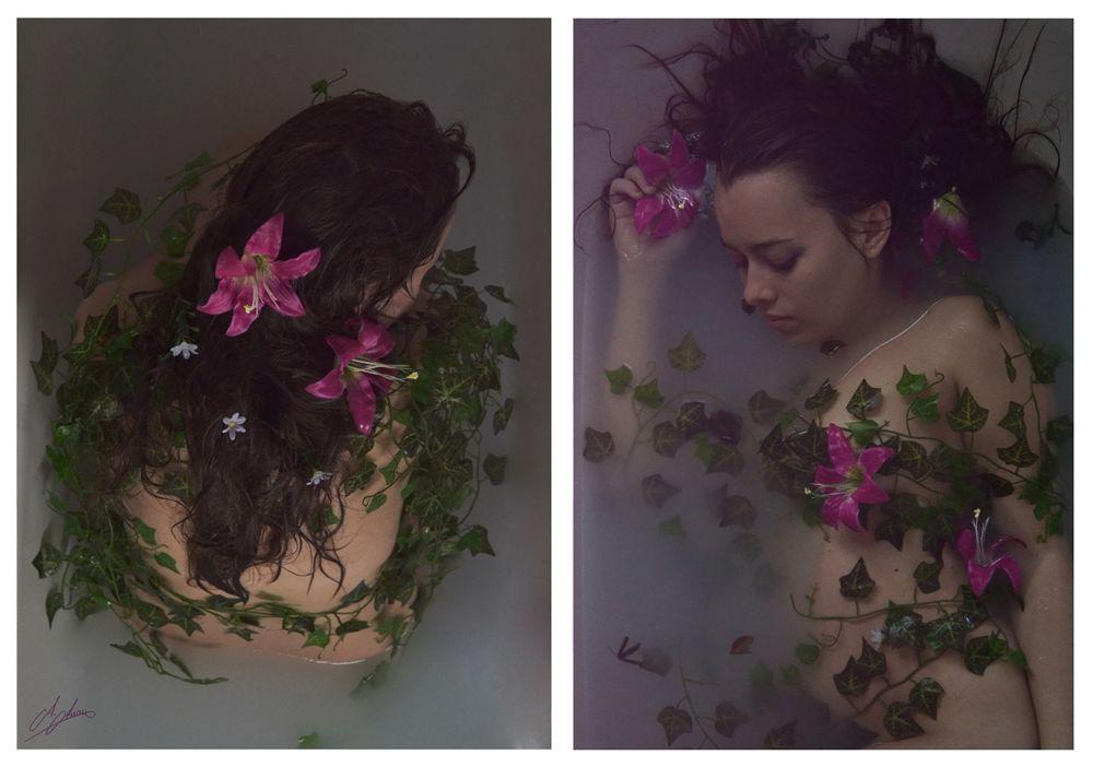 Photo in Fine Art #flowers #portrait #water #nikon #nature #muse