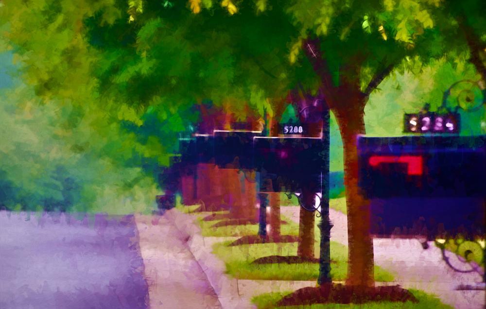 Photo in Fine Art #mailbox #fine art #street